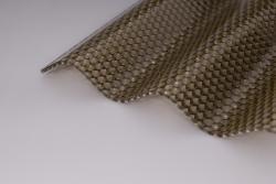 Lichtplatten 2,8mm Polycarbonat wabe bronze Hagelsicher
